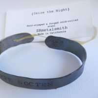 "Carpe Noctem - ""Seize the Night"" bracelet steel"