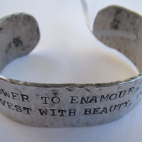 Power to Enamour Alum. cuff