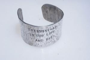 """Shakespeare """"Eternity"""" aluminum cuff"""