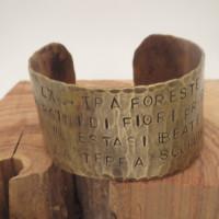 Aida brass cuff