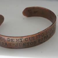 Kahlo Los átomos bracelet copper