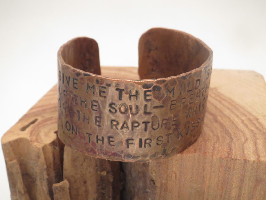 Byron hammered copper Cuff