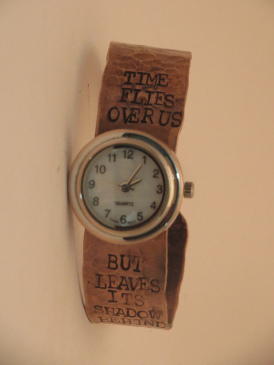 Time Flies small watch copper