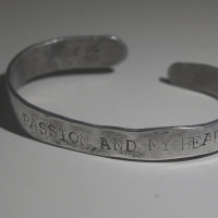 My heart in passion...Byron alum. bracelet