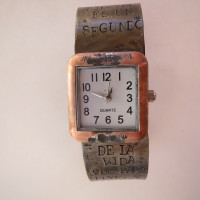 small Frida Tank brass watch
