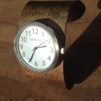 Edna St. Vincent Millay brass watch closeup