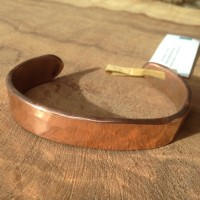 Men's Hammered Copper Cuff closeup