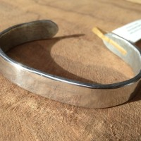 Heavy hammered Aluminum Cuff closeup