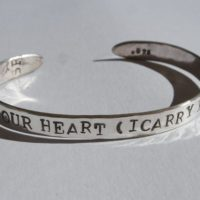 Cummings Heart Silver Bracelet